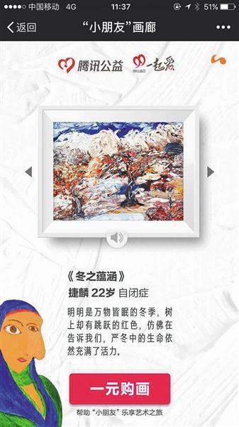"""""""一元购画""""筹得1500万元后停止 活动方回应质疑"""